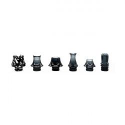 Pack de 6X Drip tips 510 Noir